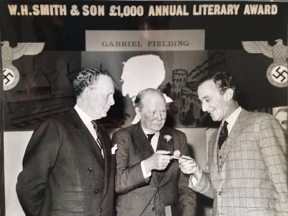 Gabriel Fielding receiving W.H Smith Award in 1964 for The Birthday King
